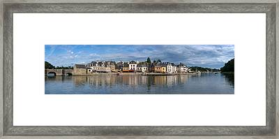 Medieval Town At The Waterfront, St Framed Print