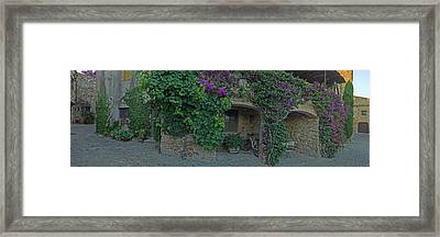Medieval Town Building At Pals In Costa Framed Print