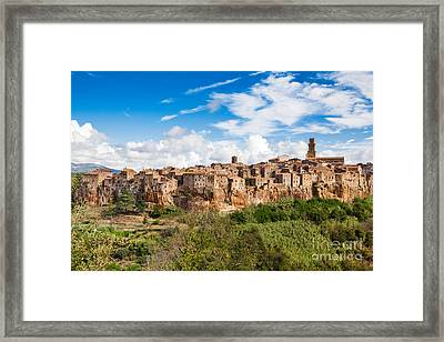 Medieval Tuscany Framed Print by JR Photography