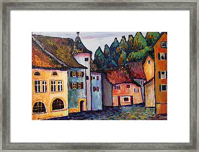 Medieval Village Of St. Ursanne Switzerland Framed Print