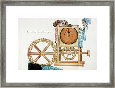 Medieval Water Mill Framed Print by Granger