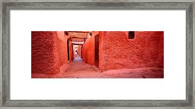 Medina Old Town, Marrakech, Morocco Framed Print