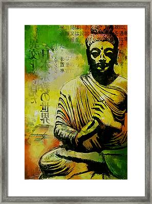 Meditating Buddha Framed Print by Corporate Art Task Force