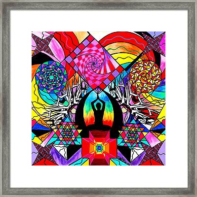 Meditation Aid Framed Print by Teal Swan