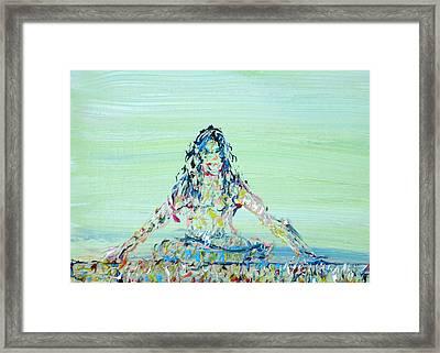Meditation Blues Framed Print by Fabrizio Cassetta