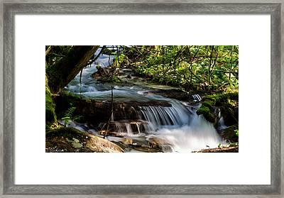 Meditation - Bridal Veil Falls Framed Print