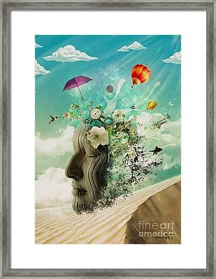 Meditation Framed Print by Donika Nikova