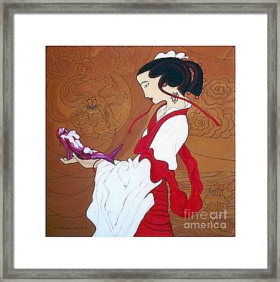 Meditation Framed Print by Fei A