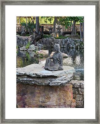 Meditation Garden Framed Print by Ella Kaye Dickey