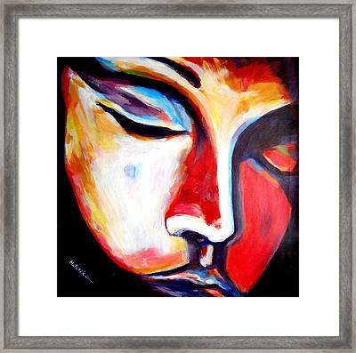 Framed Print featuring the painting Meditation by Helena Wierzbicki