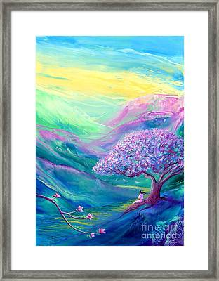 Meditation In Mauve Framed Print by Jane Small