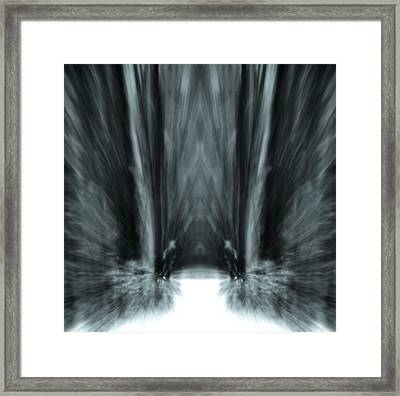 Meditation In The Forest Framed Print