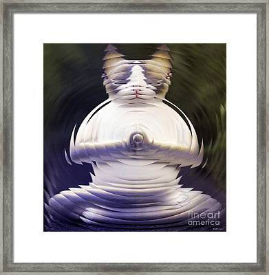 Meditation Kitty Framed Print