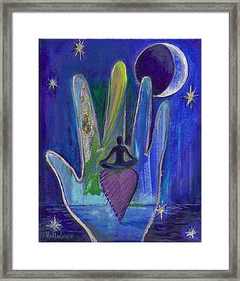 Meditation Framed Print by Maria Valladarez