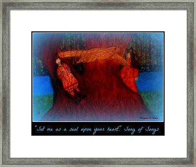 Meditation Number 3 Song Of Songs Framed Print by Maryann  DAmico