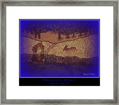 Meditation Number 6 Song Of Songs Framed Print by Maryann  DAmico