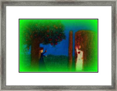 Meditation Number 7 On The Song Of Songs Framed Print by Maryann  DAmico