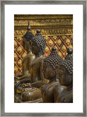 Meditators Framed Print by Karen Walzer
