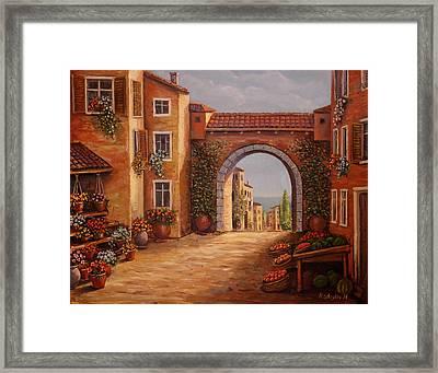 Mediterranean Bazaar Framed Print
