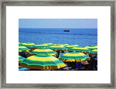 Mediterranean Beach At Amalfi Coast Italy  Framed Print by Irina Sztukowski