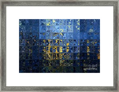 Mediterranean Blue. Modern Mosaic Tile Art Painting Framed Print by Mark Lawrence