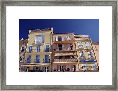Mediterranean Coastline Appartments Framed Print by Ioan Panaite