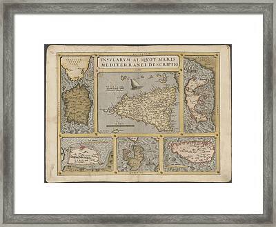 Mediterranean Islands Framed Print by British Library