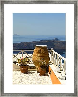 Mediterranean Meditation Framed Print