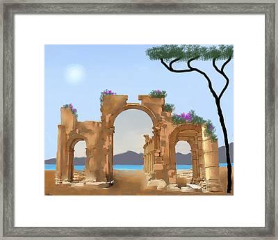 Mediterranean Ruins Framed Print