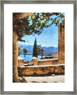 Mediterranean Sea View Framed Print