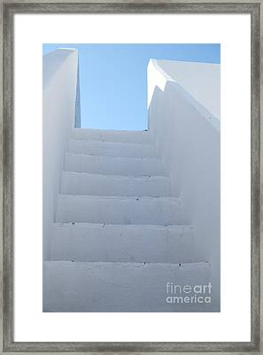 Mediterranean Staircase Framed Print