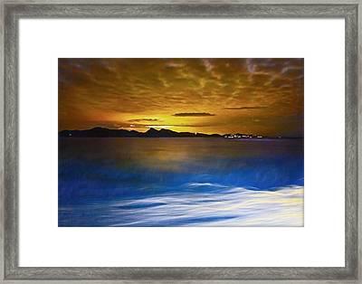 Mediterranean Sunrise Framed Print
