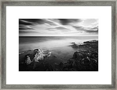 Framed Print featuring the photograph Mediterranean Sunset / Tunisia by Barry O Carroll