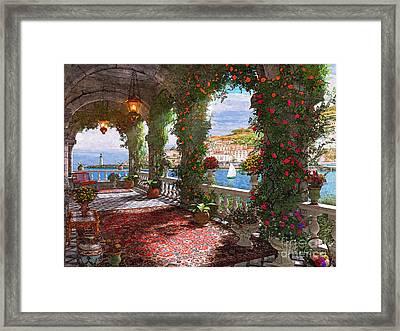 Mediterranean Veranda Framed Print