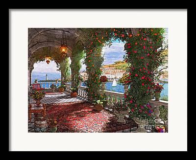 Mediterranean Landscape Digital Art Framed Prints