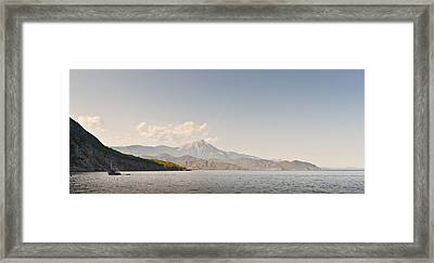 Framed Print featuring the photograph Mediterranean View by David Isaacson