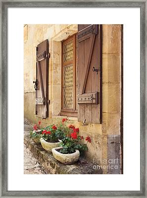 Mediterranean Window Boxes Framed Print