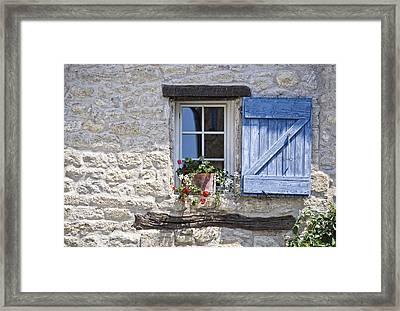 Mediterranean Window Framed Print by Joachim G Pinkawa