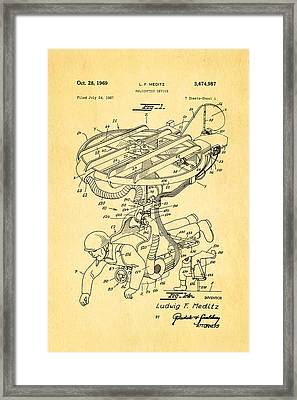 Meditz Helicopter Device Patent Art 1969 Framed Print by Ian Monk