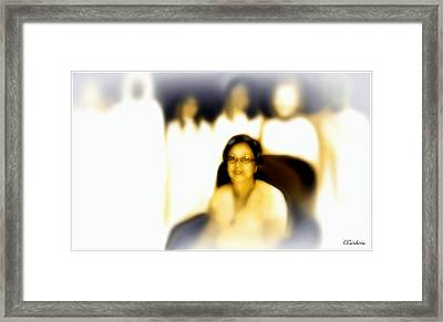 Medium And Spirit Guides Framed Print by Carmen Cordova