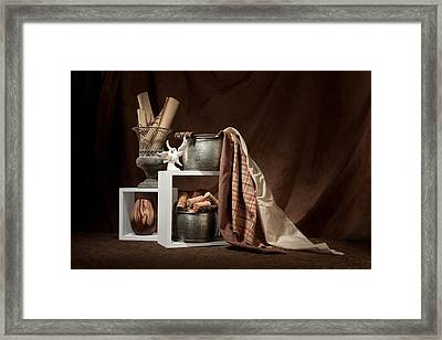 Medley Of Textures Still Life Framed Print by Tom Mc Nemar