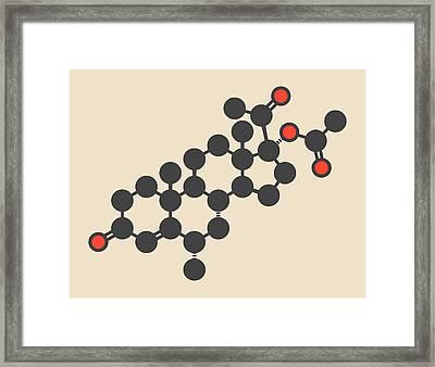 Medroxyprogesterone Acetate Molecule Framed Print by Molekuul