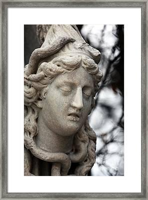 Medusa Head Framed Print by John Rizzuto