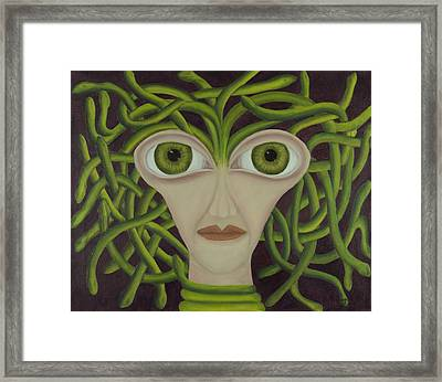 Medusa In Purple Framed Print by Coqle Aragrev