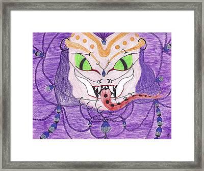 Medusa Framed Print by Random Merlin Ellis