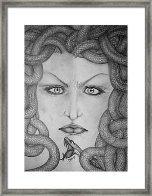 Medusa Framed Print by  Silvia Mariottini