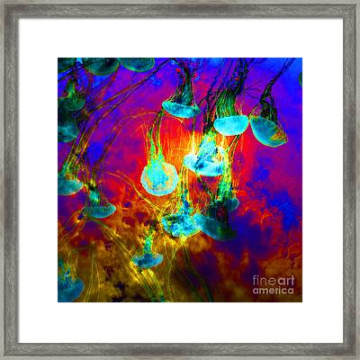 Medusas On Fire 5d24939 Square Framed Print by Wingsdomain Art and Photography