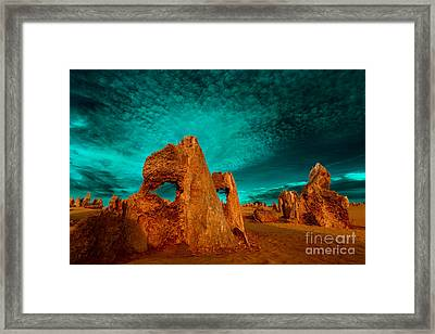Medusa's Work Is Never Done Framed Print by Julian Cook