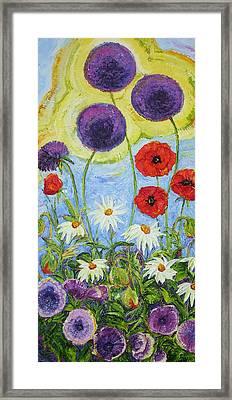Meegan's Garden Of Flowers Framed Print by Paris Wyatt Llanso