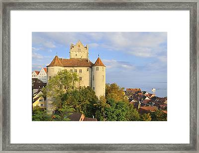 Meersburg Castle And Town Germany Framed Print by Matthias Hauser